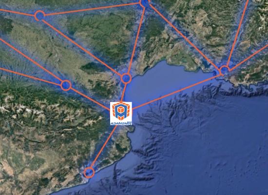 Localisation Adamentis sud frontalier avec la Catalogne